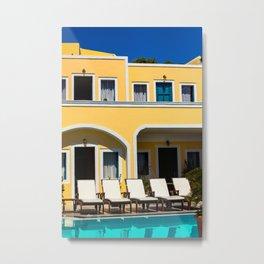 By the pool Metal Print