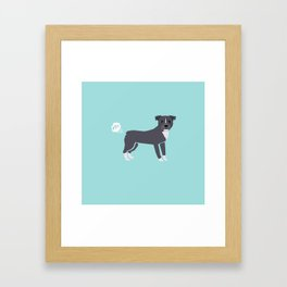 pitbull farting dog cute funny dog gifts pure breed dogs Framed Art Print