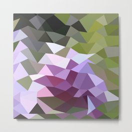 Pale Lavender Abstract Low Polygon Background Metal Print