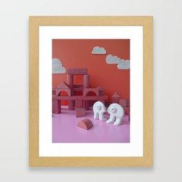 Rendez-vous galant dans les ruines du château Framed Art Print