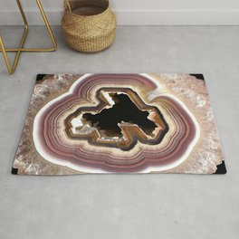 When Galaxies Collide Agate Slice Rug