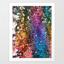 Multicolored Sequins Art Print
