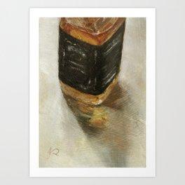 Alcohol Liquor Bottle Still Life Oil Painting Art Print
