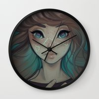 astrology Wall Clocks featuring Astrology by Cyarin