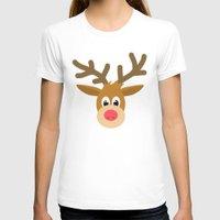 reindeer T-shirts featuring reindeer by elvia montemayor