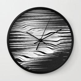 liquified black Wall Clock