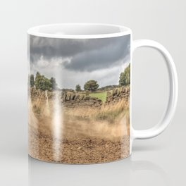 Blue and green Motocross action biker Coffee Mug