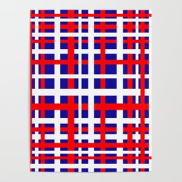 Patriotic Interlocking Stripes Poster