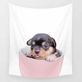 pup in a cup Wall Tapestry