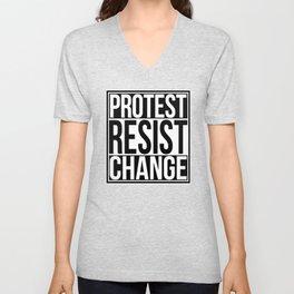 Protest Resist Change Unisex V-Neck