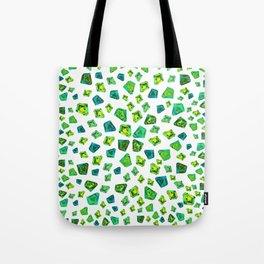 Green beautiful hand drawn gems. Tote Bag