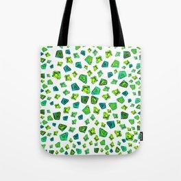 Green beautiful hand drawn gems. Tote Bag