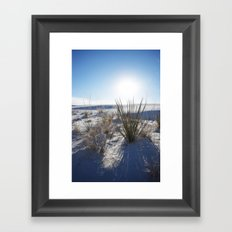White Sands New Mexico Landscape photography Framed Art Print