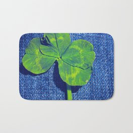 Lucky four leaf clover Bath Mat