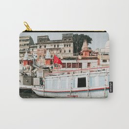 Boat in Ganga river, Varanasi, India Carry-All Pouch