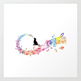 Musical Dog Art Print