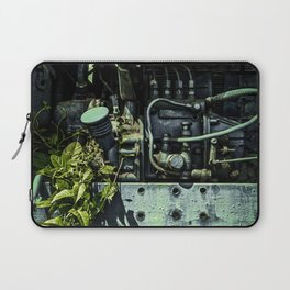 Old Tractor Weed Engine in Blue Laptop Sleeve