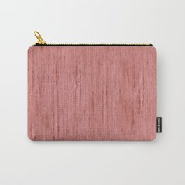 Pale Red Stone Structure Carry-All Pouch
