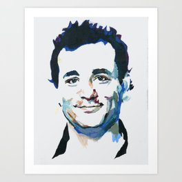 Bill Murray Abstract Art Print