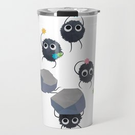 Spirited away - Susuwatari Creatures illustration - Miyazaki, Studio Ghibli Travel Mug