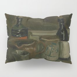 Still Life with Bottles and Earthenware Pillow Sham