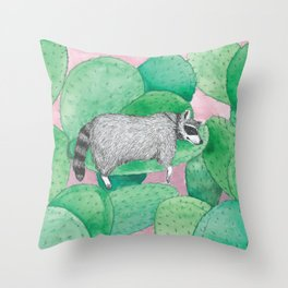 Cactus hangover Throw Pillow
