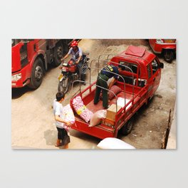 workers. Canvas Print