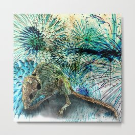 DEATH MOUSE PARTY Metal Print