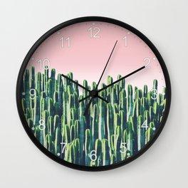 Cactus & Sunset Wall Clock