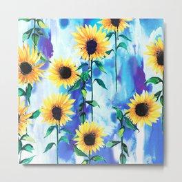 Sunflower Sky Metal Print