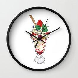 Strawberry Sundae Wall Clock