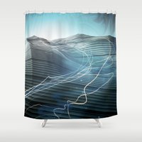 journey Shower Curtains featuring Journey by Jason Linn