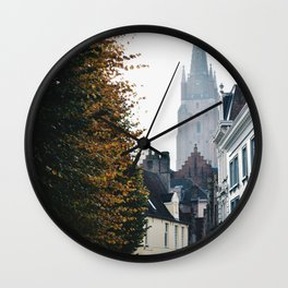 On the Streets of Bruges Wall Clock