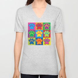 Pop Art Paws Unisex V-Neck