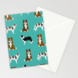 Border Collie mixed coats dog breed pattern gifts collies dog lover Stationery Cards