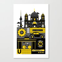 berlin Canvas Prints featuring Berlin by koivo