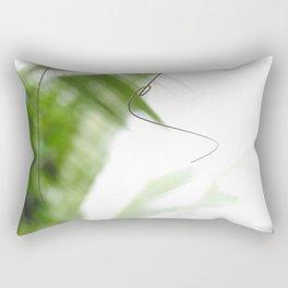 Peaceful green shades of graceful nature Rectangular Pillow