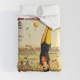 The Great Coney Island Water Carnival – Barnum & Bailey Circus Poster Comforters