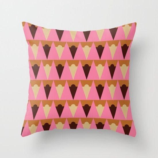 Ice Cream Cart Throw Pillow
