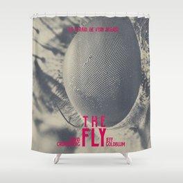 The Fly, horror movie poster, David Cronenberg, Jeff Goldblum, alternative playbill Shower Curtain