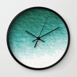 FOREST GREEN GRADIENT Wall Clock
