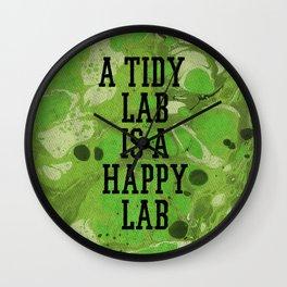 A Tidy Lab Wall Clock
