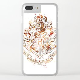 Hogwarts Crest Clear iPhone Case
