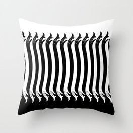 Negative Space Serpents Throw Pillow