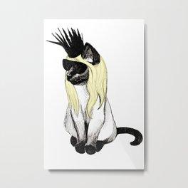 Cat Hat Metal Print