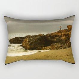 Alone on the rocks Rectangular Pillow