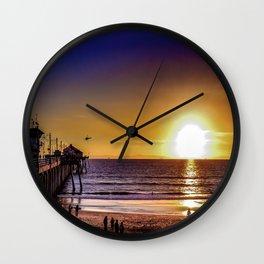 Surf City Glow Wall Clock