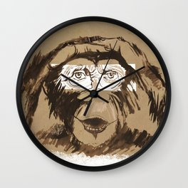 Emotional monkey Wall Clock