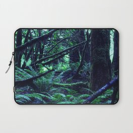 Magnificently Magical Forest In Turquoise Blue & Juniper Green Laptop Sleeve
