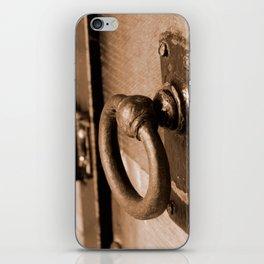 Rustic Antique Door Handle Pull and Latch Sepia iPhone Skin